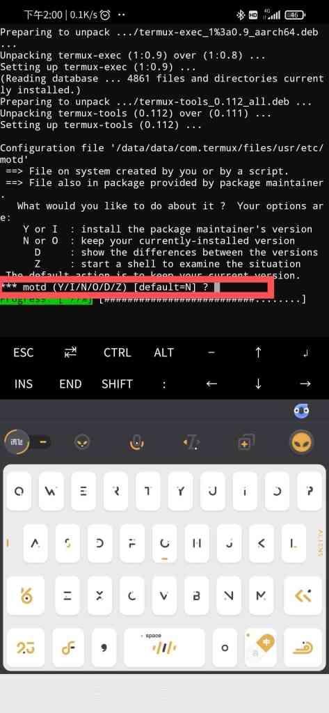使用Utermux在手机上安装宝塔面板教程插图